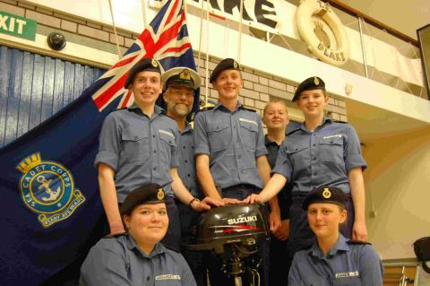 The proud sea cadets