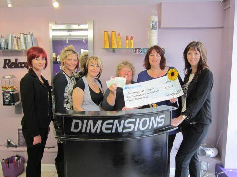 North Petherton hairdressers raise thousands for charity