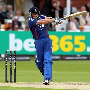 England's Ian Bell bats during the first One Day International match at Lords