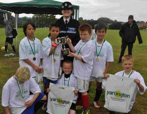 Bridgwater youngsters are football winners