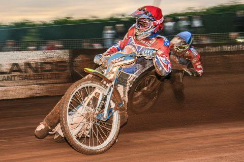 Jason Doyle in action against Edinburgh at the Oaktree Arena. PHOTO: Colin Burnett
