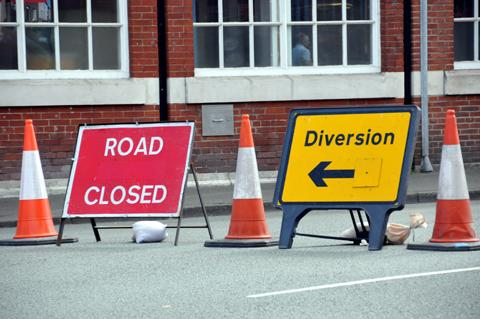 Diversion along busy Bridgwater stretch