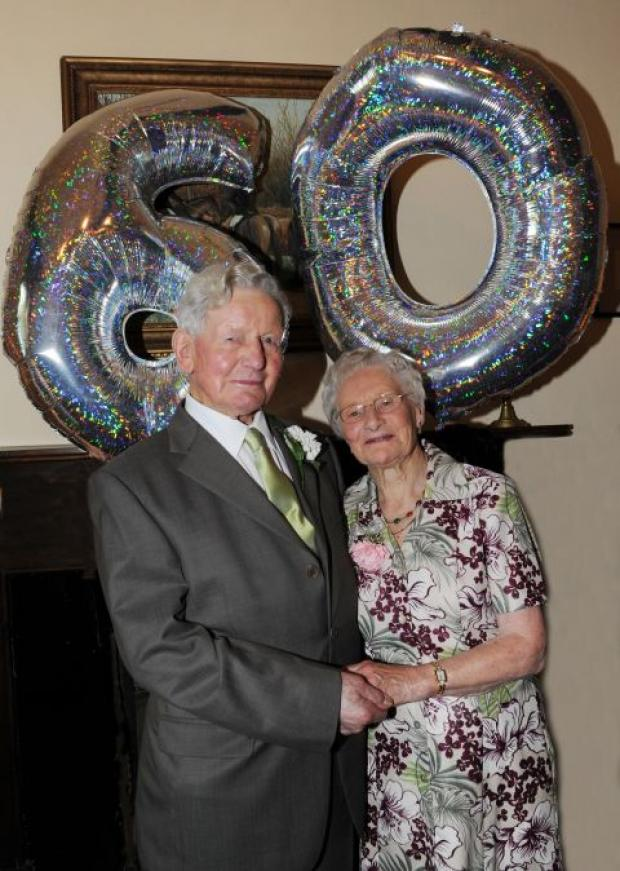 Bridgwater Mercury: Anne and Maurice celebrate Diamond year at Cannington