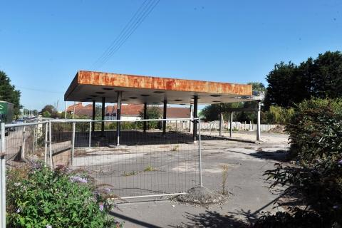 Bridgwater Mercury: This garage site in Bristol Road has been an eyesore for several years.