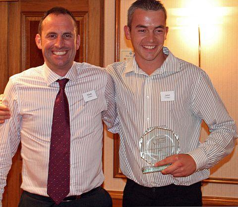 Bridgwater basketball coach Jake Chidgey (right) receives national recognition