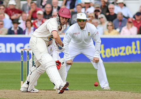 Jack Leach in action against South Africa last season. PHOTO: Tom Smith