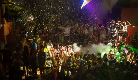 Students embrace the foam at Bridgwater College Student Union's first party of the term. Photo: Samuel Thompson.