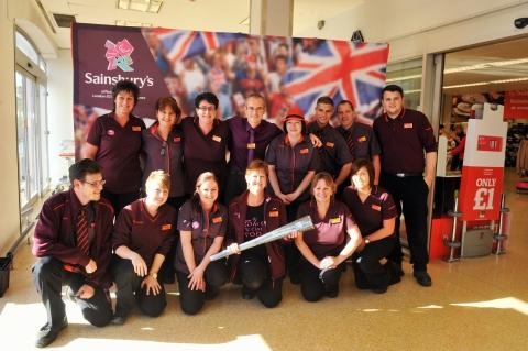 Bridgwater Sainsbury's welcomes Paralympic Torch