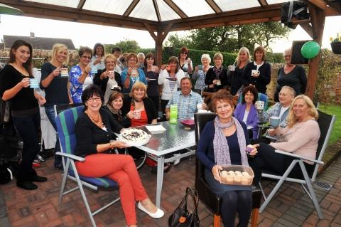 Sue's North Petherton cuppa supports cancer appeal