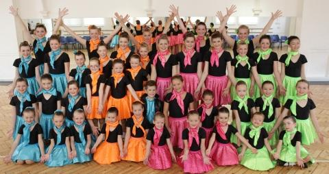 Students from Fox King Dance Academy in their costumes for the Disney performance. Photo: Timeless Images.