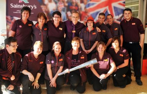Torch lights up Bridgwater Sainsbury's