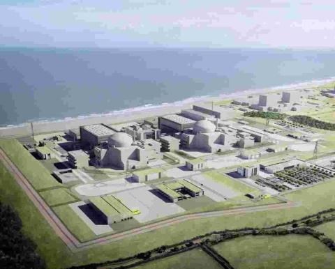 An artist's impression of Hinkley C.