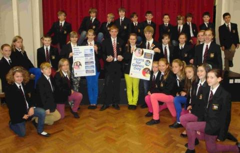 Haygrove pupils dress down for charity