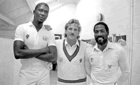 The big three - Joel Garner, Ian Botham and Viv Richards