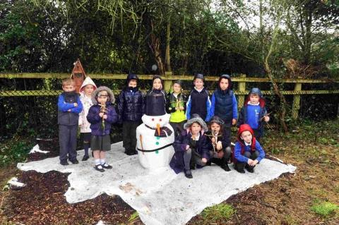 Bawdrip pupils in the land of tigers and snowmen