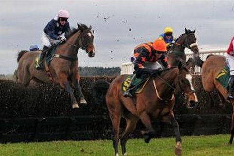 Racing at Taunton Racecourse on Monday