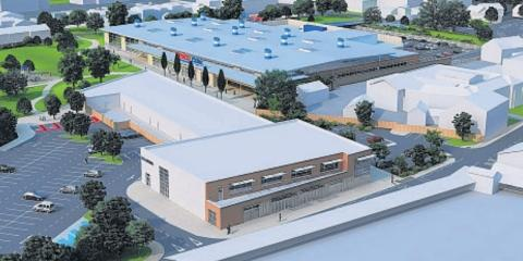 How the proposed Tesco store at Northgate could look.