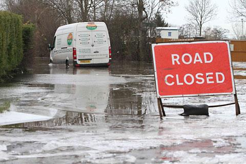 Flooded A361 is closed again