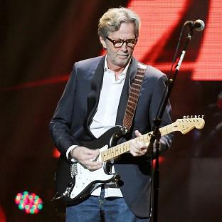 Eric Clapton played at the Superstorm Sandy benefit gig (AP/Starpix)