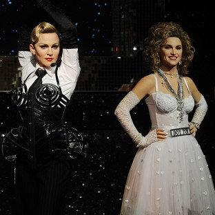 New wax figures of Madonna have gone on show at Madame Tussauds