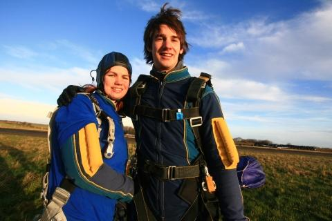 Rebecca Thomas and her best friend Nick, who supported her to do the skydive. Photo: submitted.