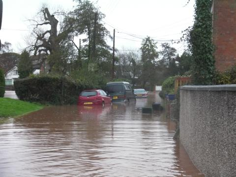 Cannington was one of the worst affected villages by flooding a month ago... but they're still flooded out.