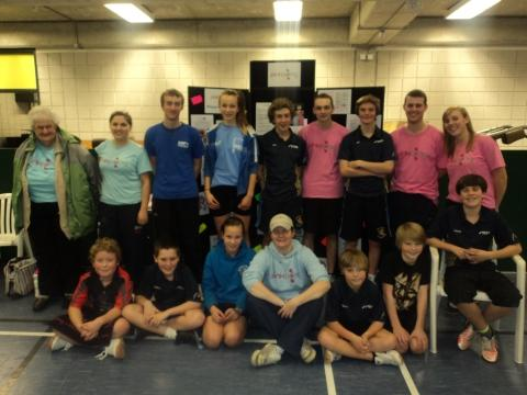 Bridgwater and District Table Tennis League at their fun coaching charity event. Photo: submitted.