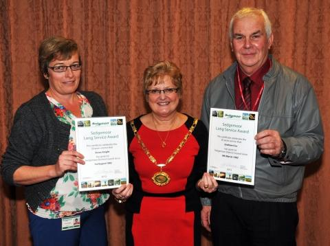Long service awards for Sedgemoor District Council staff