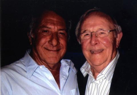 Dustin Hoffman, left, with Charles Sibley. stage name David Christian.