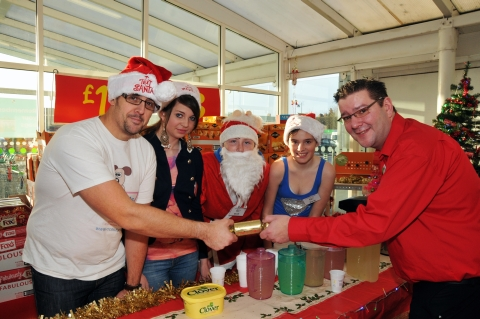 Tim Handel, Amber, Scott and Asda store manager Rob Gerred-Hart.
