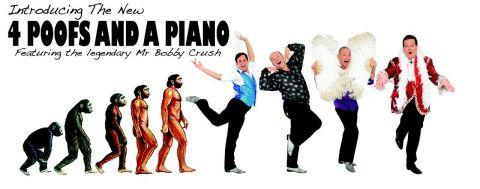 4 Poofs and a piano to perform at the Playhouse Theatre, Weston