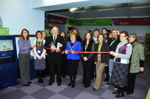 Chairman of Sedgemoor District Council, Gill Slocombe, cuts the ribbon. Photo: Jeff Searle.