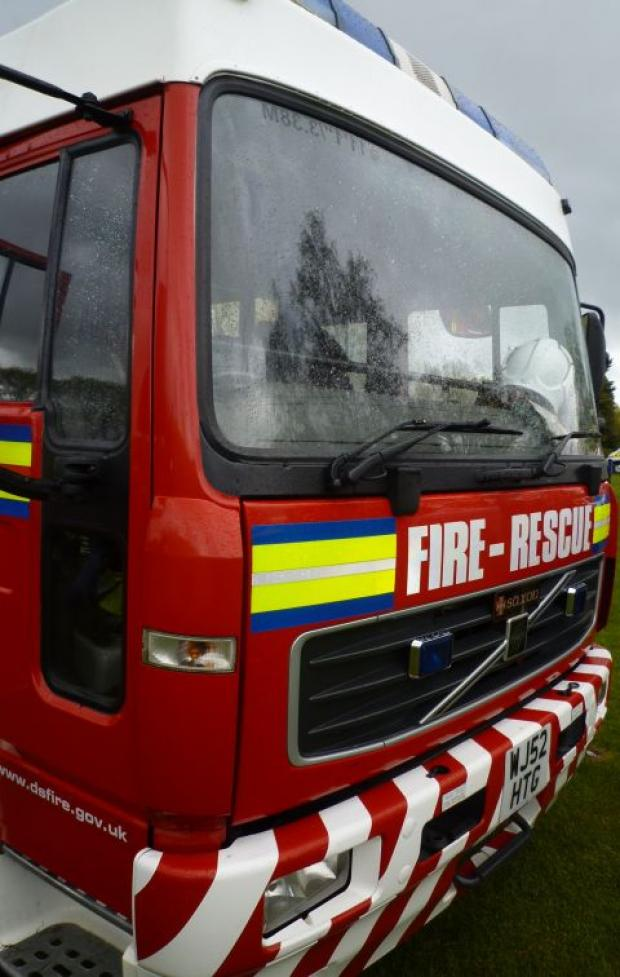 A38 closed after gas cylinder fire