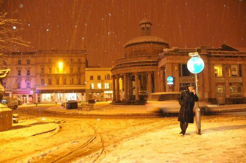 Snow in Bridgwater town centre, January 22, 2013