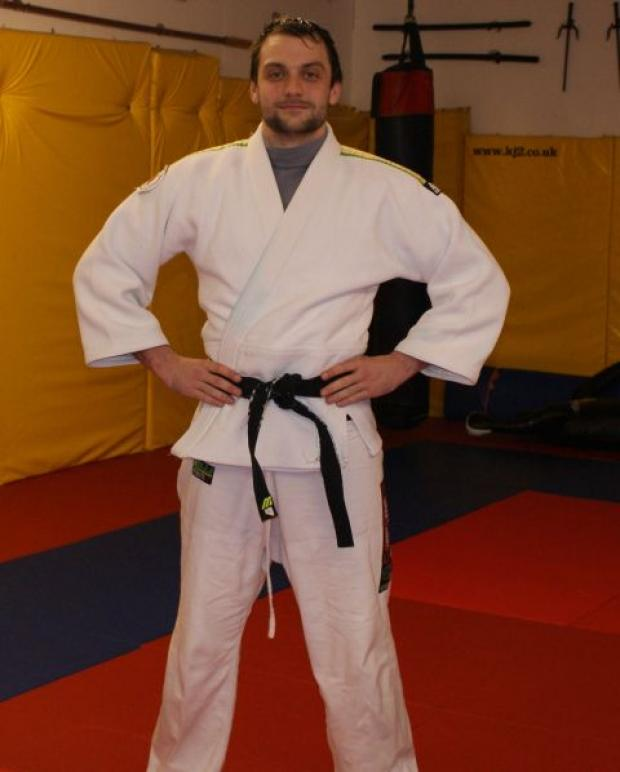 Matt Bloska awarded first Dan black belt