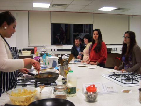 A cookery class at the open event. Photo: submitted