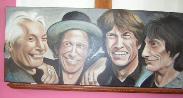 THE Rolling Stones by Huntspill Art Group member Valerie Summefett.