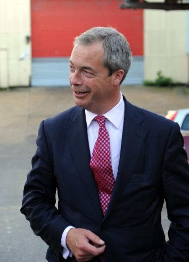 Bridgwater Mercury: NIGEL Farage says charity should begin at home