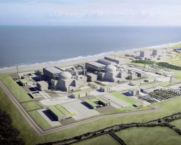 Bridgwater Mercury: An artist's impression of the Hinkley C site