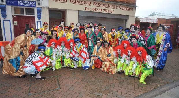 Members of British Flag Carnival Club, which won awards for its performances, stage setting and costumes during 2013's carnival concerts.