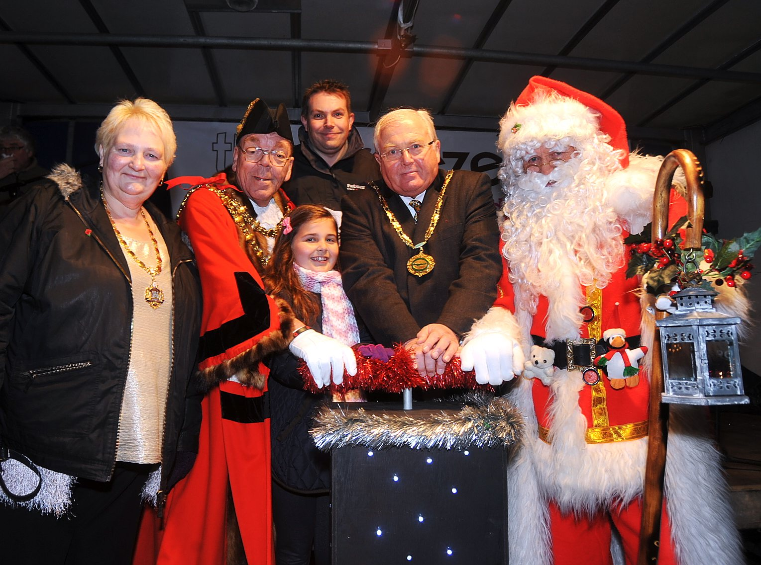 Bridgwater's Christmas lights switch on