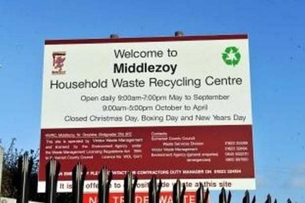 Middlezoy Recycling centre to close next Monday