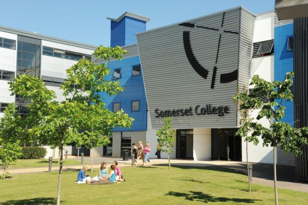 Bridgwater Mercury: Outside Somerset College in Taunton