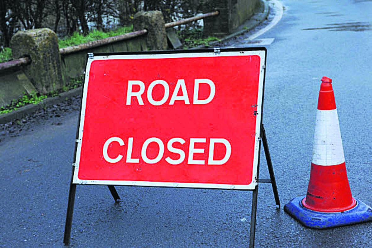 Road closed by Quantock pub in Bridgwater