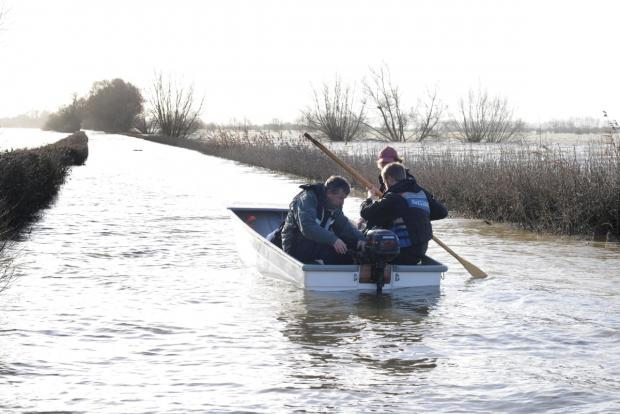 Bridgwater Mercury: Residents in Muchelney need a boat to get to their home from 'the mainland'