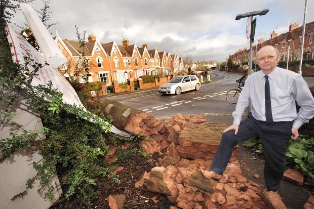 Bridgwater Mercury: Manager Bill Issitt said this wasn't the first time someone has crashed into this wall.