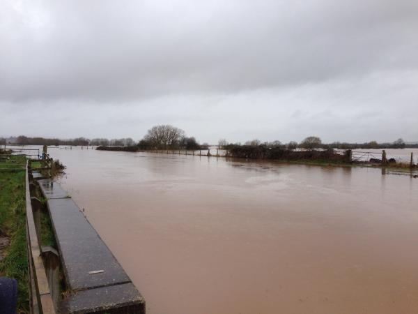 Burrowbridge was badly hit by flooding.