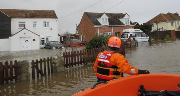 BARB help out in flooded Moorland