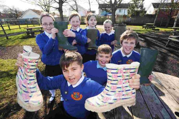 Bridgwater Mercury: Cannington Primary School holds 'wellie day'