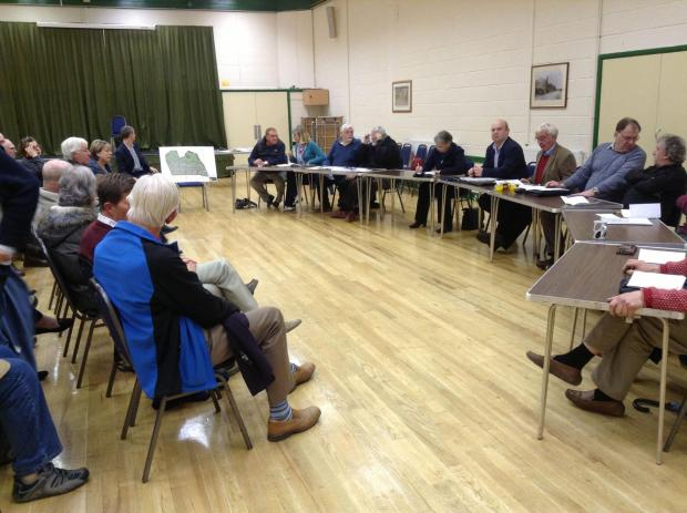 North Petherton Town Council discuss the planning application at North Petherton Community Centre.